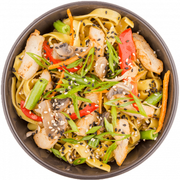 Chicken Stir-Fry/Egg noodles