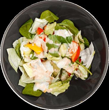 Салат свежие овощи азия