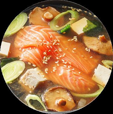 Мисо с лососем