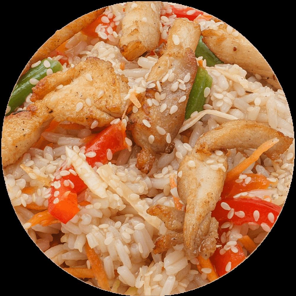 Вок с курицей/ рис