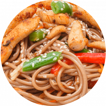 Chicken Stir-Fry/Buckwheat noodles