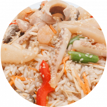 Seafood Stir-Fry /Rice